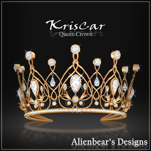 KrisCar gold Queen Crown white