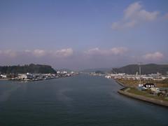 日和大橋より望む北上川
