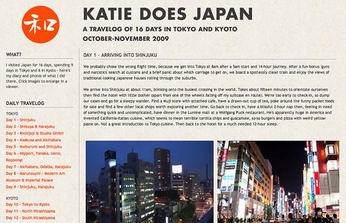 Japan travelog