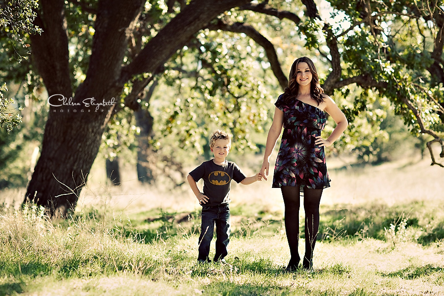 Agoura oak tree christmas holiday portrait picture