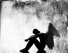 fallen angel (Martin.Matyas) Tags: portrait bw angel canon dark porträt sw engel dunkelheit textur thedarkside beautifulphoto eos400d canonefs1855mm3556kitlens