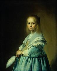 VERSPRONCK, Jan Cornelisz Girl in a Blue Dress 1641