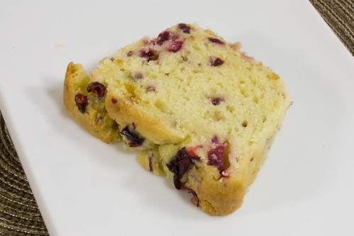 Slice Angle Cranberry Orange Bread