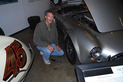 John preparing to have a go at the right front knock off (wbaiv) Tags: california family original friends cars ford car museum john aluminum automobile cobra open body steel tube pals tony betty shelby 427 vehicle sacramento chassis ac roadster companions csx convertable opentop hogg droptop 3154 peopleweknow californiaautomobilemuseum