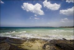 Huskisson Beach, Jervis Bay (Enjoy Little Things - www.enjoylittlethings.com) Tags: ocean beach clouds landscape sydney australia bluesky brightness sunnyday jervisbay crystalclearwater huskissonbeach