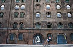 Williamsburg Brooklyn (adam wiseman) Tags: street city travel summer urban usa newyork bicycle brooklyn grafitti unitedstates williamsburg dominosugarfactory