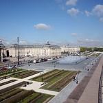Bordeaux: Les quais jardinés et le miroir d'eau, rive gauche