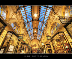 The Royal Arcade, Melbourne :: HDR (:: Artie | Photography ::) Tags: roof window glass fashion photoshop canon mall shopping cs2 tripod victorian australia wideangle victoria symmetry shoppingmall shops symmetrical stores 1020mm hdr royalarcade 3xp sigmalens photomatix tonemapping tonemap 400d rebelxti