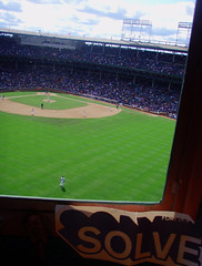 Solve In the Scoreboard at Wrigley Field 1 (Barrybu) Tags: street chicago field artist cubs wrigley solve