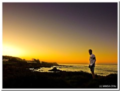 Getting up early (California CPA) Tags: orange sunrise silver bigsur cambria pacificcoasthighway noclouds calfiornia runography runningearly almostdidnotgetupthatmorning iamgladidid