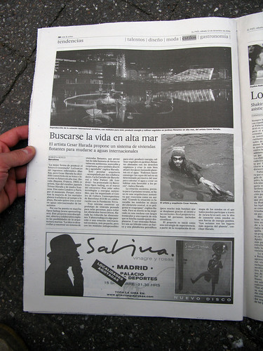 "Open_Sailing in ""El Pais"", 2009 12 12"