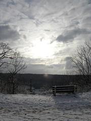 Enjoy the Sunset and Snow (Minnie Wong) Tags: winter sunset white snow ice germany grey sundown cloudy jena enjoy