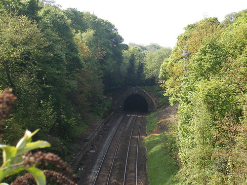 The Camp Hill line from Woodbridge Road in Moseley - site of the former Moseley Station