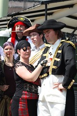 Pirate calendar shoot (Sarah Jayne Anderson) Tags: uk costumes friends portrait people silly london hat fun boat costume funny ship unitedkingdom candid pirates group hats fantasy pirate scifi british sciencefiction candids fancydress groups pirateship roleplay tobaccodock
