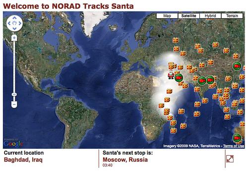 NORAD Santa Claus 2009 in Baghdad, Iraq