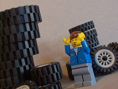 The pain of working with tires- (1) (Gmolka) Tags: 1 pain with lego working tires part engineer 5the