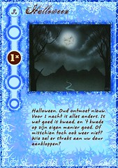 """Halloween"" event card from my home-made Werewolf mega-set"
