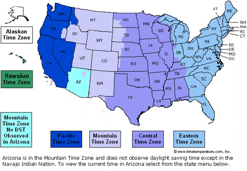 Columbus Map Of Time Zones Us - Us time zone map