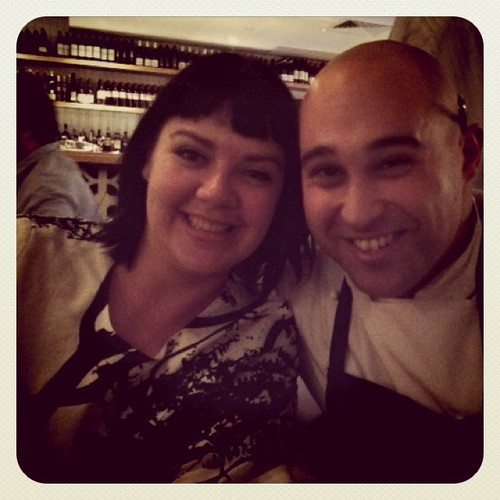 Hanging out with the lovely Shane Delia at his awesome new restaurant in kew!