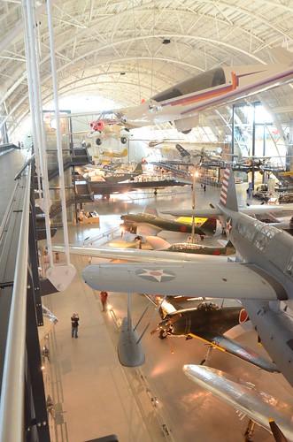 Steven F. Udvar-Hazy Center: South hangar panorama, including Vought OS2U-3 Kingfisher seaplane, B-29 Enola Gay, among others