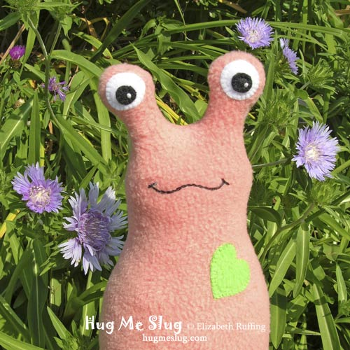 Hug Me Slug Art Toy by Elizabeth Ruffing
