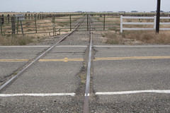 Sacramento Northern Railroad Tracks (I Love Badger Dogs!) Tags: california ca railroad abandoned canon ties gates tracks railway blocked disused aged interurban locked fairfield dozier sleepers olcott roadbed westernrailwaymuseum travisafb sacramentonorthern anthonywstanton anthonywstantonphotography