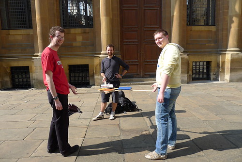 Demonstrating the roof of the Sheldonian