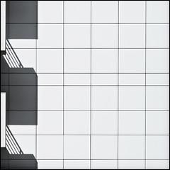 + (Maerten Prins) Tags: barcelona shadow urban white abstract lines wall contrast grid spain expo geometry balconies macba fmn270511