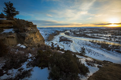 View from the Cliffs (Trevan Hiersche) Tags: montana montanamoment billings cliffs cold evening portfolio rims river rocks sacrifice snow stream sunset winter yellowstone yellowstoneriver explore adventure wanderlust west wild view