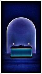 Amen (Antiteilchen) Tags: religion dorotheenstädtischerfriedhof light licht lichtkunst jamesturrell friedhof chapel church kapelle deutschland germany berlin amen blue blau kirche