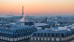 The last hour (apersyannick) Tags: paris eiffel tower sunset colors sun blue hour gold france architecture nofilter