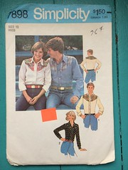 Simplicity 7898 (kittee) Tags: kittee vintagesewing vintagepattern sewing pattern simplicity vintage size12 miss 1977 1970s simplicity7898 7898 misses shirt yoked western longsleeves buttonedcuffs shirttailhem country blouse cowgirl