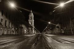 And the light shineth in darkness - И свѣтъ во тьмѣ свѣтитъ (Valery Parshin) Tags: russia stpetersburg night saintpetersburg canoneos600d canonefs1018mmf4556isstm light valeryparshin vasilyevskyisland street blackandwhite