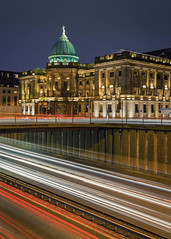 The Mitch (rgcxyz35) Tags: m8 lighttrails scotland charingcross mitchelllibrary library motorway architecture nightphotography buildings city longexposure dome glasgow