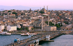 The Golden Horn (A Sutanto) Tags: skyline turkey evening view dusk scenic istanbul mosque goldenhorn galatabridge yenicamii galatatower