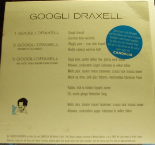 Sony Luxo - Googli Draxell Baksida