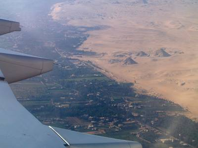 Pyramids from plane