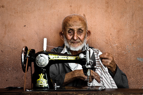 Streets of Marrakech: the old seamster
