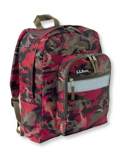 L.L. Bean Red Camo backpack