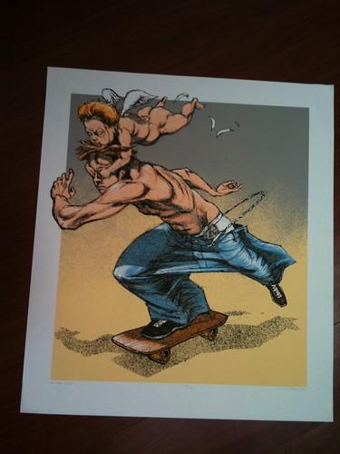 Derek Hess skater art print