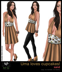 [MG fashion] Uma loves cupcakes! (sand)