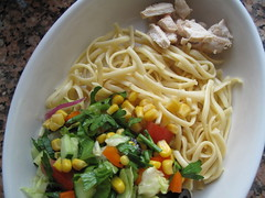 Veg, Pasta and Chicken