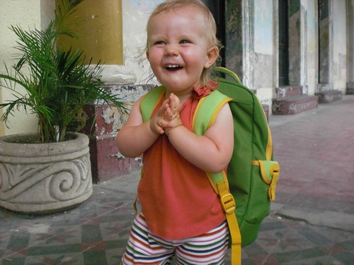 Shanti's first backpack: my daughter in Nicaragua