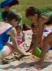 3d playing in the sand