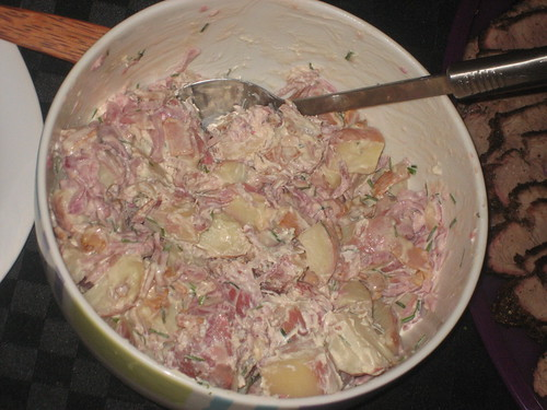 Caramelised Onion Potato Salad