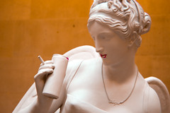 Greco Tipsy (Sheer Poetry) Tags: statue angel hair greek necklace wings nipple dress roman cigarette banksy blurred can strap lipstick shoulder fag