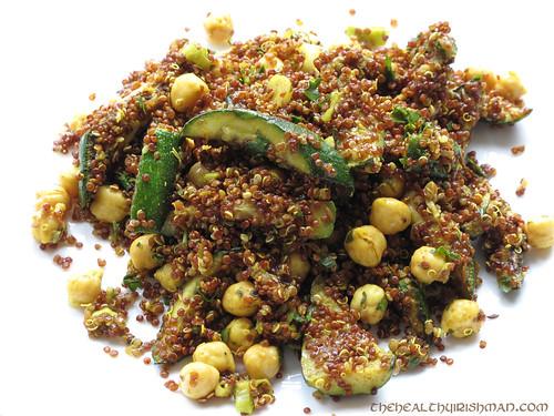 Moroccan Quinoa Salad & Tikka Salmon | Gavan Murphy