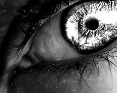 evil (Mouin.M) Tags: iris bw white black eye glass eyes evil oeil yeux creepy devil shining depth hdr