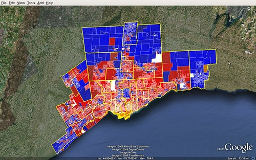 Greater Toronto - map of 2008 federal election results