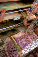 graffiti on pier (impact510) Tags: santacruz pier hdr